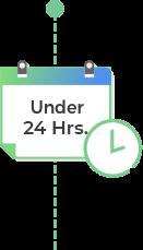 Under 24 hrs
