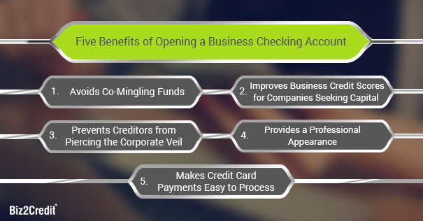 Five Benefits of Opening a Business Checking Account